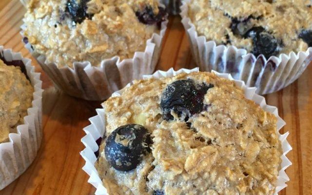 Blauwe bessen muffins met havermout!