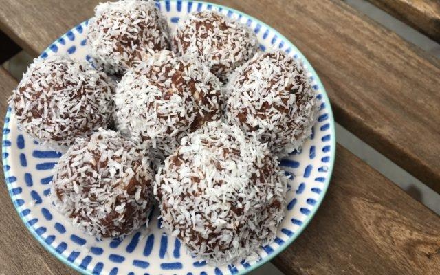 Chocolade dadelballen!