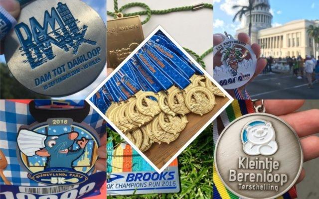 Mijn medailles van 2016!