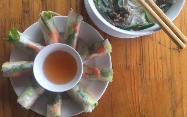 Vietnamese spring rolls!
